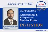 Yerevan, Armenia on July 10-11, 2020: ''Anesthesiology & Perioperative Medicine Update'' conference